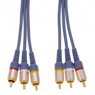 ビデオ接続コード ピンプラグ×3-ピンプラグ×3 3m [品番]01-7571
