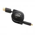HDMI-micro HDMI ケーブル 巻取り式 1m [品番]05-0324
