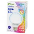 LED電球 ボール形 40形相当 E26 昼白色 [品番]06-2990
