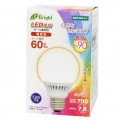LED電球 ボール形 60形相当 E26 電球色 [品番]06-2991