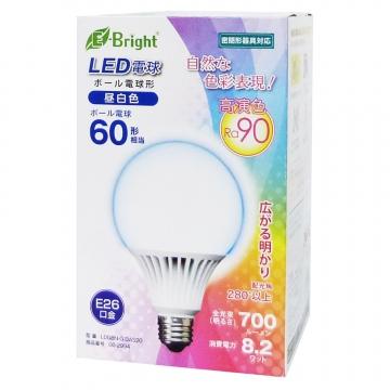 LED電球 ボール形 60形相当 E26 昼白色 [品番]06-2994