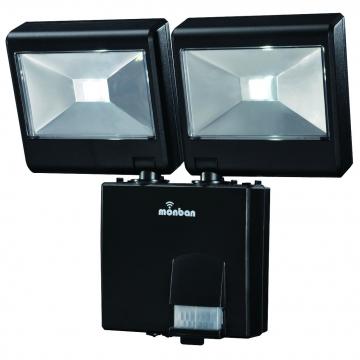 LED センサーライト2灯 乾電池タイプ [品番]07-8282