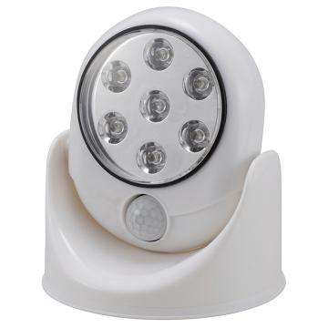 室内・室外兼用 7LEDセンサーライト 白 [品番]07-8361