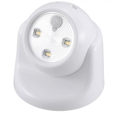 LEDセンサーライト ボール形 白 [品番]07-9784