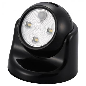 LEDセンサーライト ボール形 黒 [品番]07-9785