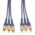 ビデオ接続コード ピンプラグ×3-ピンプラグ×3 0.5m [品番]01-5006