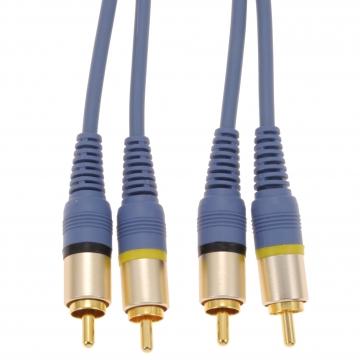 ビデオ接続コード ピンプラグ×2-ピンプラグ×2 1m [品番]01-7564