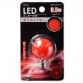 LEDミニボール球装飾用/G30/E12/0.5W/赤色 [品番]06-3216