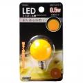 LEDミニボール球装飾用/G30/E12/0.5W/黄色 [品番]06-3217