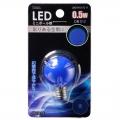 LEDミニボール球装飾用/G30/E12/0.5W/青色 [品番]06-3218