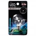 LEDミニボール球装飾用/G30/E12/0.5W/18lm/クリア昼白色 [品番]06-3220