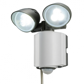 LEDセンサーライト 2灯式 [品番]07-5598