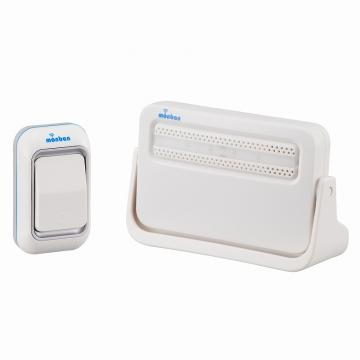 monban ワイヤレスチャイム 押しボタン送信機+電池式受信機 [品番]08-0513