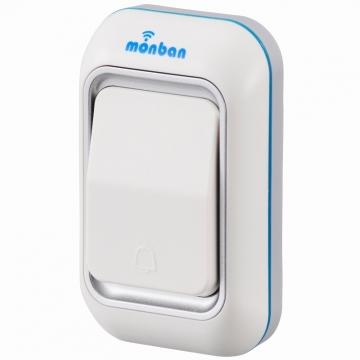 monban ワイヤレスチャイム 押しボタン送信機 [品番]08-0515