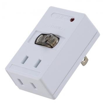 雷に強いLEDスイッチ付タップ [品番]00-1417