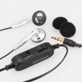 AudioComm ステレオイヤホン リモコン付 3mシルバー [品番]03-1833