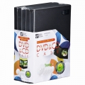 DVD/CDケース 1枚収納×5パック 14mm  [品番]01-3279