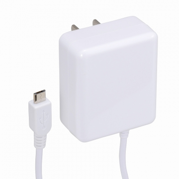 AudioComm スマホ用 AC充電器 2.1A ホワイト [品番]01-7038