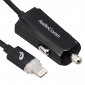 AudioComm ライトニング カーチャージャー LED充電ランプ付 1m [品番]03-3045