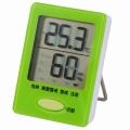デジタル温湿度計 グリーン [品番]08-0052