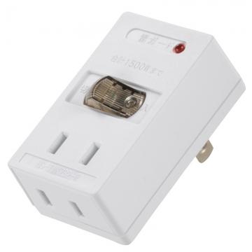 雷ガード付 LEDスイッチタップ 2個口 [品番]00-2242