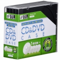 CD/DVDケース 1枚収納×5パック ブラック 10mm [品番]01-3276