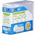CD/DVDケース 1枚収納×10パック 5mm クリア [品番]01-3277