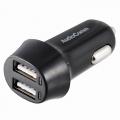 AudioComm USB カーチャージャー USBx2 2.4A [品番]03-3042