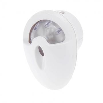 LEDナイトライト 明暗センサー 360°回転 電球色LED [品番]04-2673