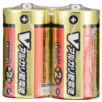 Vアルカリ乾電池 単2形 2本パック [品番]07-9940