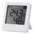 健康サポート機能付き デジタル温湿度計 白 [品番]08-0227