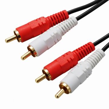オーディオ接続コード ピンプラグ×2-ピンプラグ×2 1m [品番]01-5107