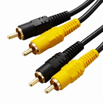 ビデオ接続コード ピンプラグ×2-ピンプラグ×2 1m [品番]01-5120