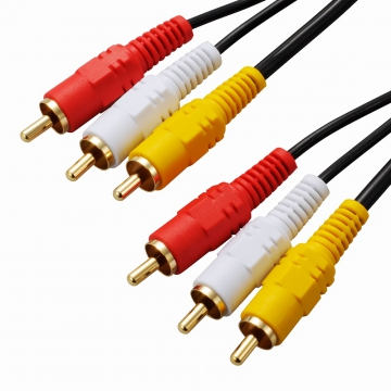 ビデオ接続コード ピンプラグ×3-ピンプラグ×3 1.5m [品番]01-5124