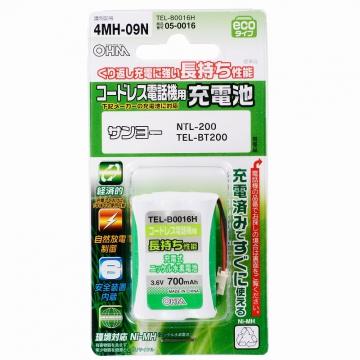 コードレス電話機用充電池 サンヨー4MH-09N [品番]05-0016