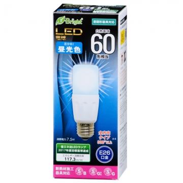 LED電球 T形 60W相当 E26 昼光色 [品番]06-2942