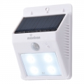 monban ソーラー発電式 LEDセンサーウォールライト ホワイト [品番]07-8208