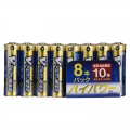 Vアルカリ乾電池 ハイパワータイプ 単3形 8本パック [品番]07-9965