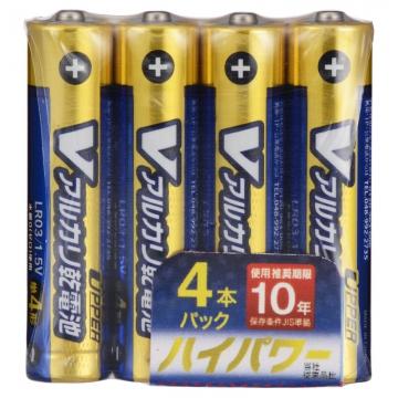 Vアルカリ乾電池 ハイパワータイプ 単4形 4本パック [品番]07-9966