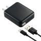 AudioComm AC充電器+ライトニングケーブル 1A 1m ブラック [品番]01-7046