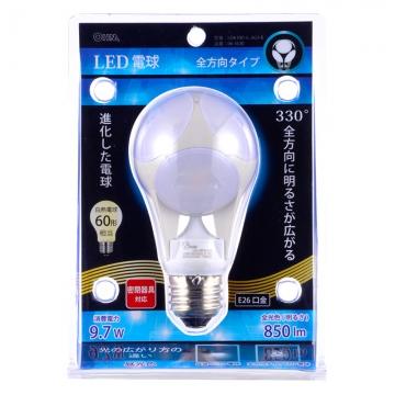 LED電球 ボール電球形 60形相当 E26 昼光色 [品番]06-1620