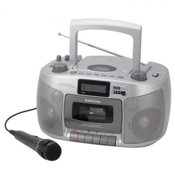 AudioComm CDラジカセ 再生スピード調整機能/マイク付 [品番]07-6418