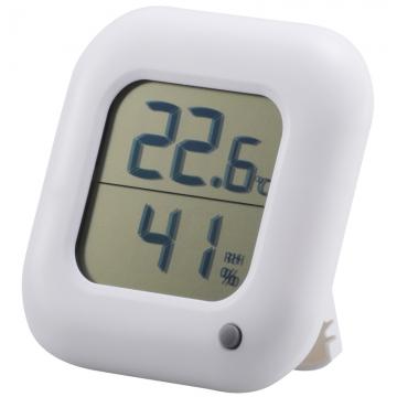 デジタル温湿度計 白 [品番]08-0062