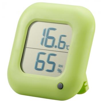 デジタル温湿度計 緑 [品番]08-0063