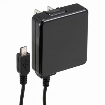 AudioComm スマホ用 AC充電器 1A ブラック [品番]01-7037