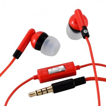 AudioComm ステレオイヤホン 赤 [品番]03-2873