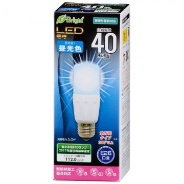 LED電球 T形 E26 40形相当 昼光色 [品番]06-2940