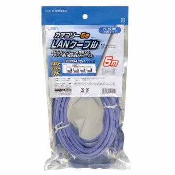 LANケーブル カテゴリー5e ブルー 5m [品番]05-2161