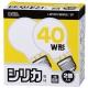 白熱電球 E26 40W ホワイト 2個入 [品番]06-1761