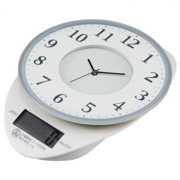 時計付 デジタルキッチンスケール 3kg計 [品番]08-0061